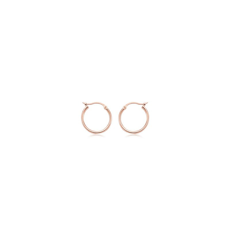 David Harvey Everyday Collection 14K Gold 15mm Tube Hoops