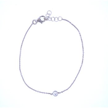 "18KW 0.14ct Diamond ""Tribute"" Bracelet"