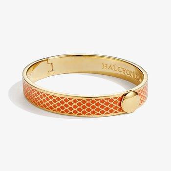Salamander Orange and Gold Bangle