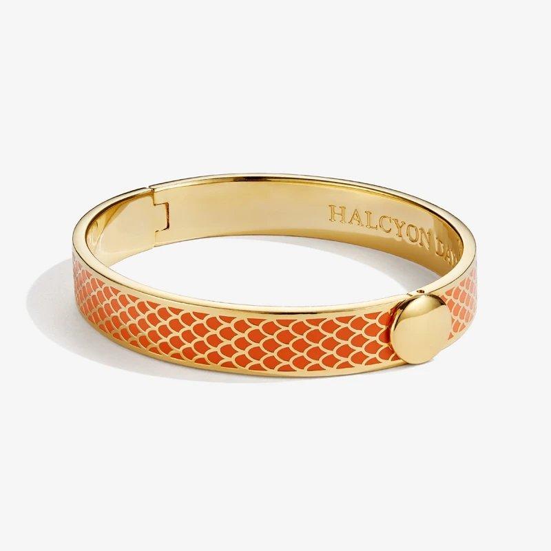 Halcyon Days  Salamander Orange and Gold Bangle