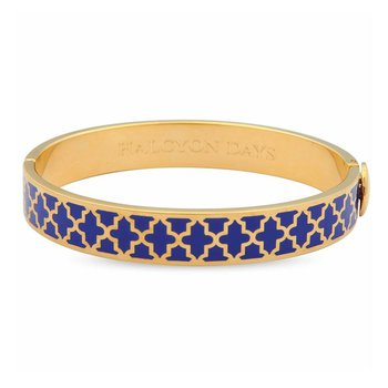 Agama Deep Colbalt and Gold Bangle
