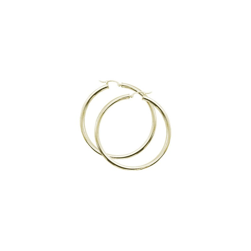 David Harvey Everyday Collection 14K Yellow Gold 50mm Tube Hoops