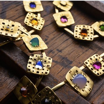 "18KT ""Square Characters"" Necklace"