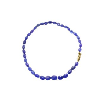 """Orchard"" Clasp Tanzanite Bead Necklace"