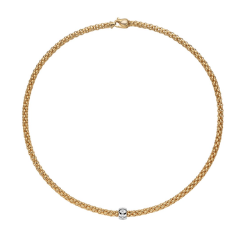 "18KT ""Solo"" Necklace with Diamond Rondelle"