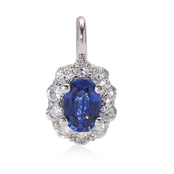 Oval Sapphire Cluster Pendant
