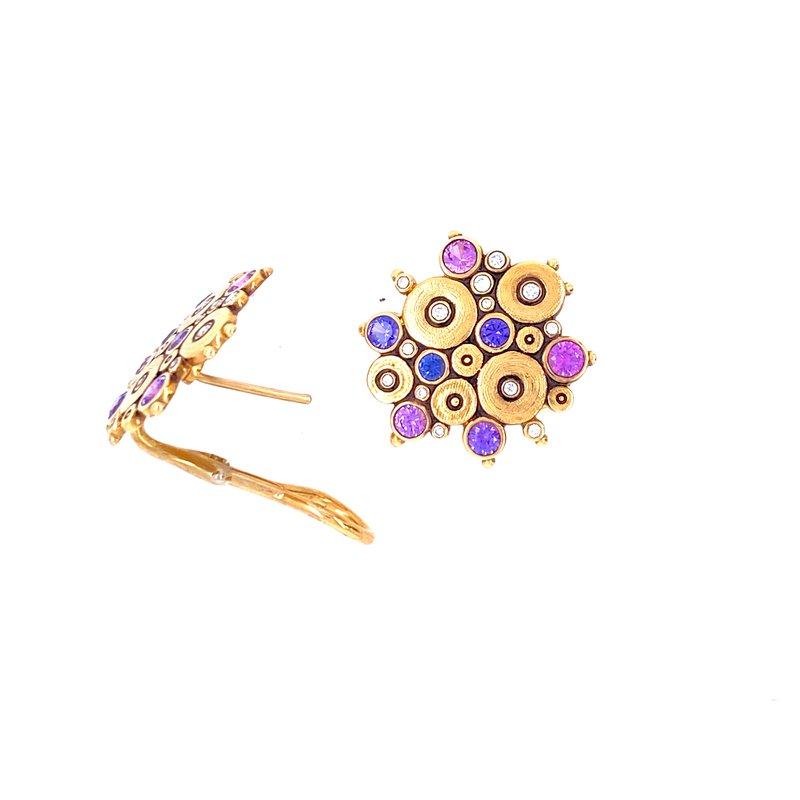 """Alex Sepkus Purple Sapphire """"Ocean"""" Earrings"""