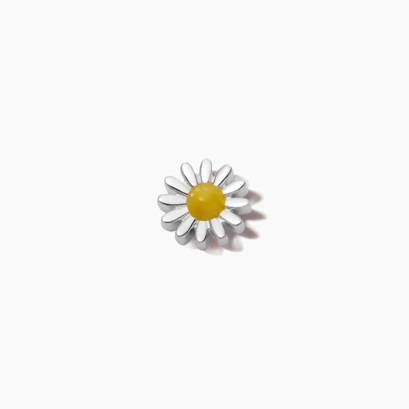 Loquet London 18K White Gold Daisy Charm