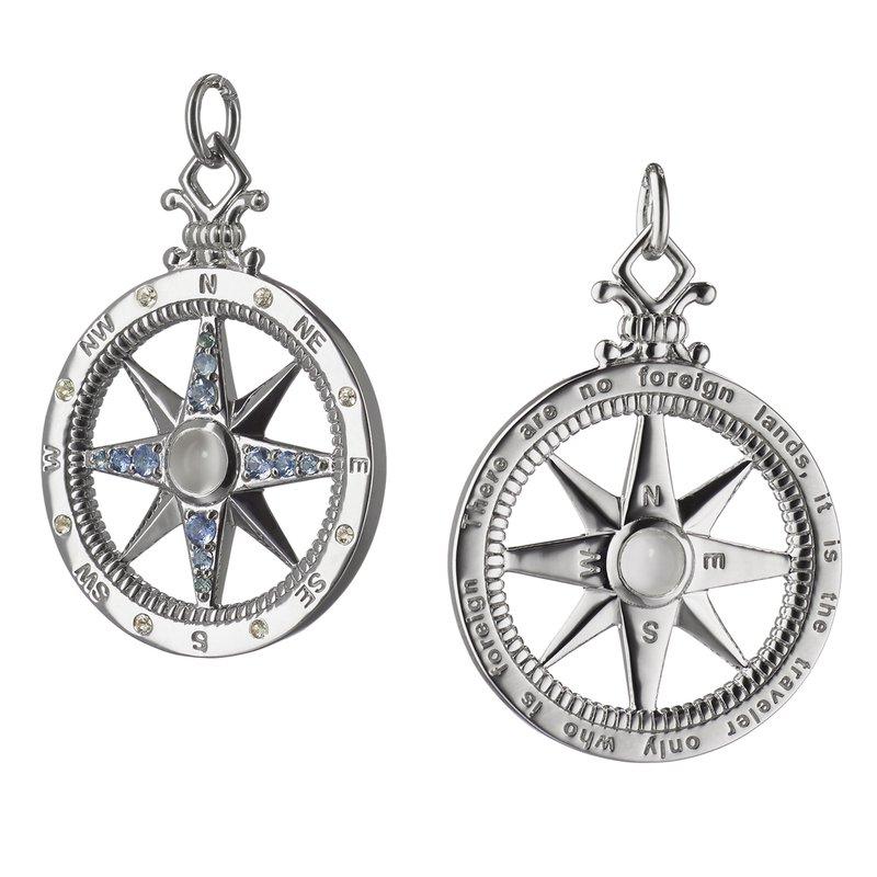 "Monica Rich Kosann SS ""Travel"" Global Compass Charm"