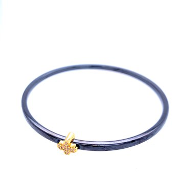 3mm Black Ceramic Agama Bangle