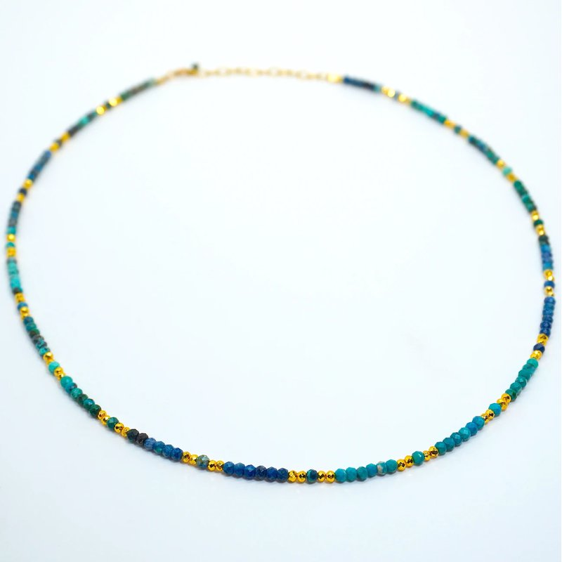Mined and Found Kenzie Chrysocolla Necklace