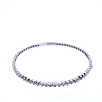 14KW 1.00ctw Diamond Flex Bangle