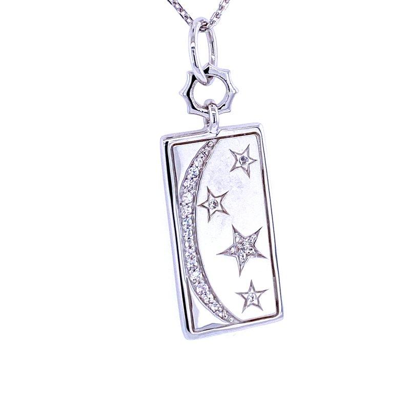 Monica Rich Kosann SS Sun, Moon and Stars Tag Pendant
