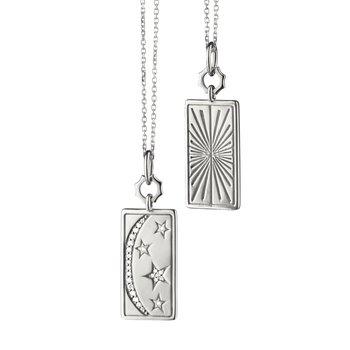 SS Sun, Moon and Stars Tag Pendant