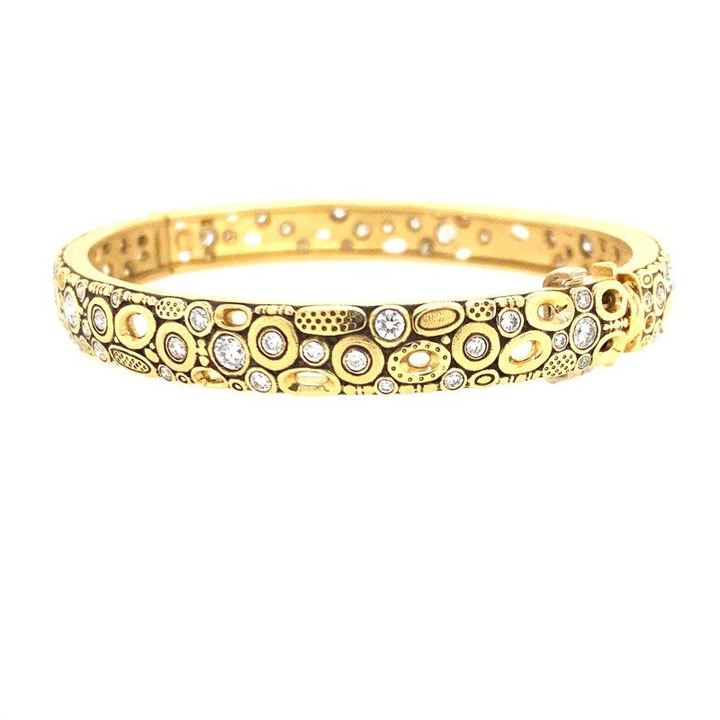 Alex Sepkus Gold and Diamond Bangle Bracelet