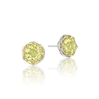 Crescent Crown Crescent Crown Studs featuring Lemon Quartz