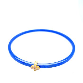 3mm Blue Ceramic Agama Bangle