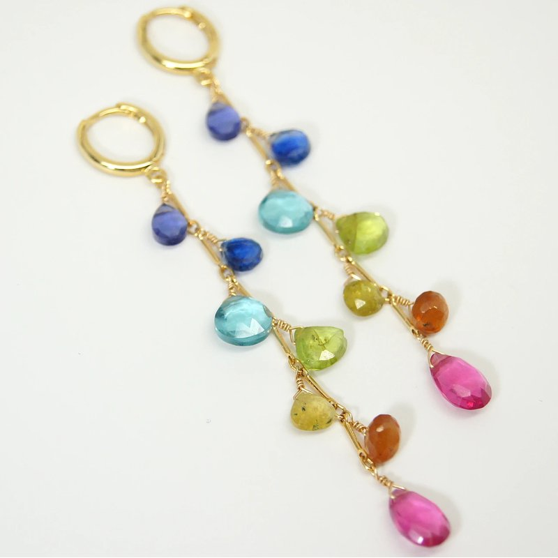 Mined and Found Classic Rainbow Earrings