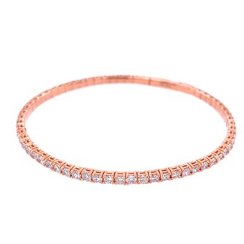 14KR 3.01ctw Diamond Flex Bangle