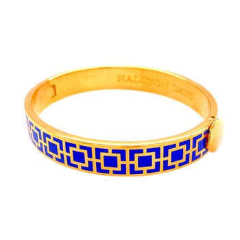 10mm GP Cobalt Enamel Mosaic Bangle