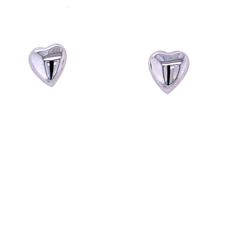 David Harvey Everyday Collection 14KW Puffed Heart Studs