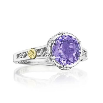 Crescent Crown Petite Crescent Amethyst Ring