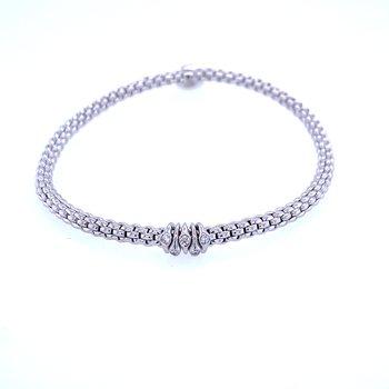 "18KW Diamond Rondelle ""Prima"" Flex Bracelet"