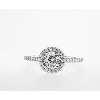 18KW 0.92ctw Engagement Ring