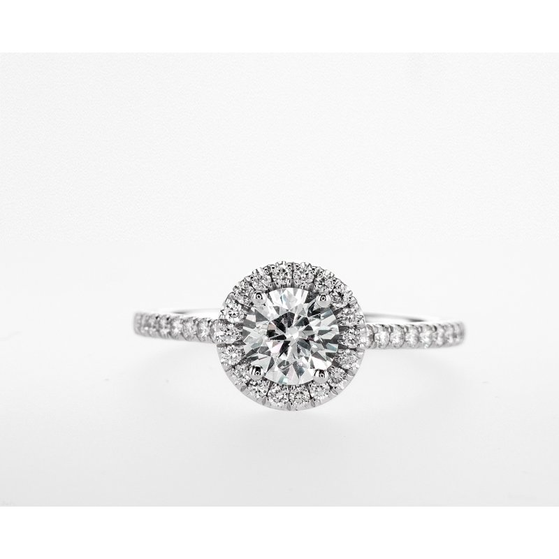 Forevermark 18KW 0.92ctw Engagement Ring