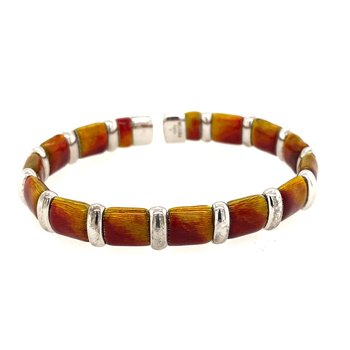 SS Ombre Fire Bracelet