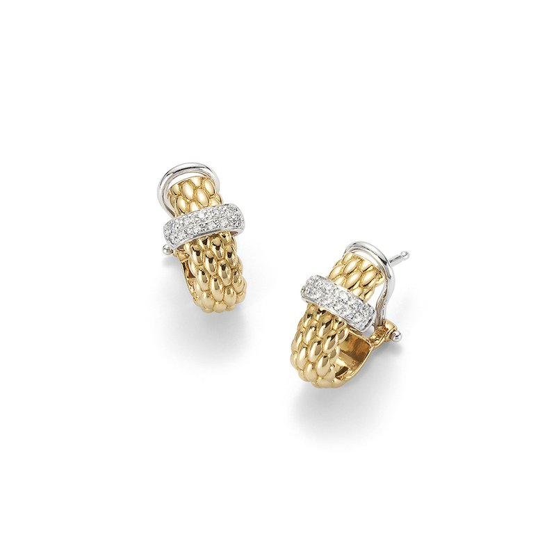 "FOPE 18KT ""Vendome Collection"" Hoop Earrings"