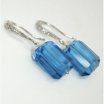 Blue Gumdrop Earring