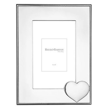 Precious Heart 4x6 Inch Silver Plate Picture Frame