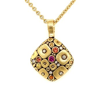 "18KT Yellow Gold ""Soft Mosaic"" Pendant"