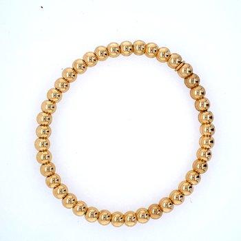 18k Yellow Gold 5mm Bead Bracelet