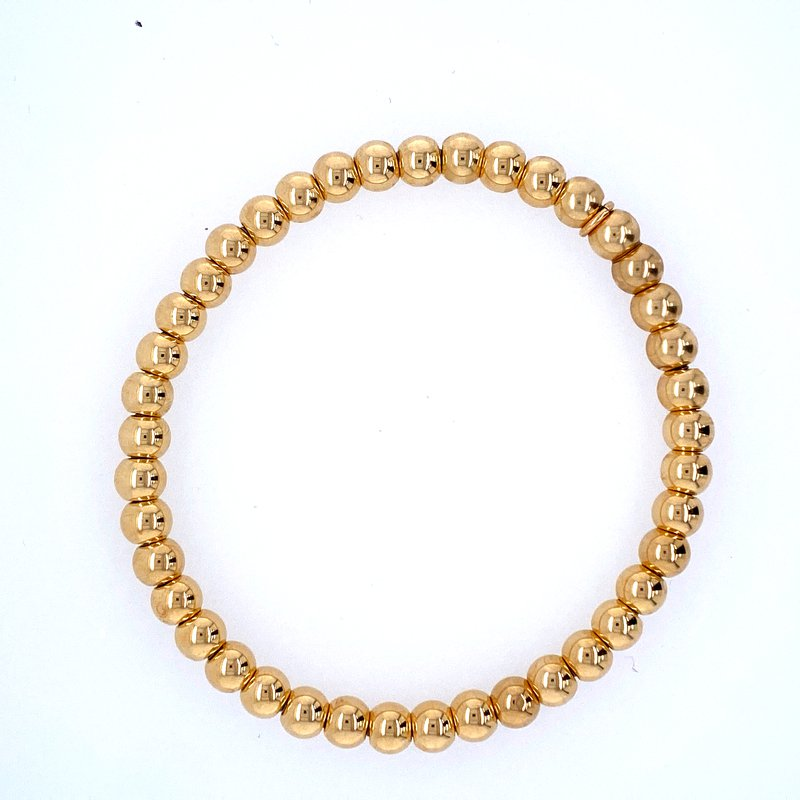 David Harvey Everyday Collection 18k Yellow Gold 5mm Bead Bracelet