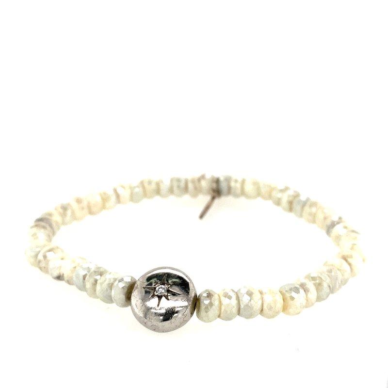 Anzie SS Silverite Bead Bracelet