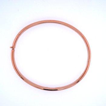 14k Rose Gold 5mm Hinged Bangle Bracelet
