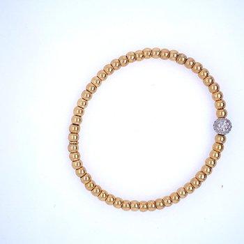 18k Yellow Gold Bead Bracelet