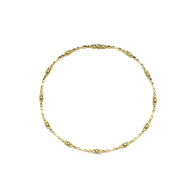 "Alex Sepkus Diamond Set ""Path"" Necklace"