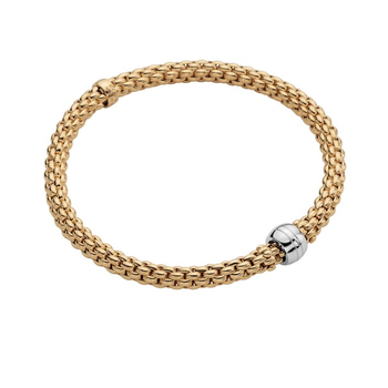 "18KT Two Tone ""Solo"" Flex Bracelet"