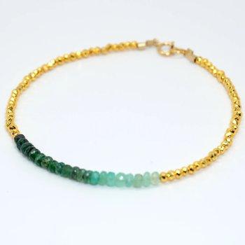 Kenzie Bar Ombré Emerald Bracelet