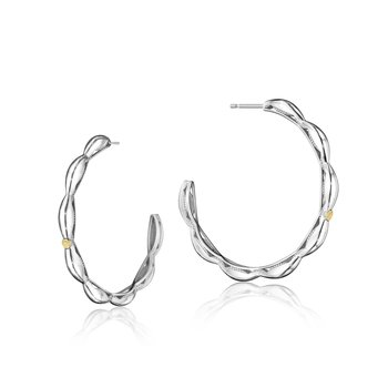 The Ivy Lane Crescent Contour Hoop Earrings