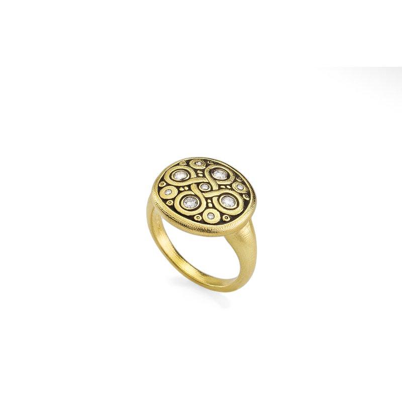 "Alex Sepkus Diamond ""Celtic Spring"" Ring"