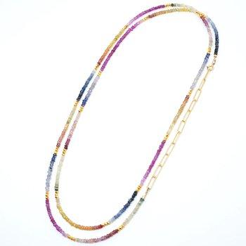 Kenzie Rainbow Sapphire Necklace