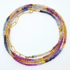 Mined and Found Kenzie Rainbow Sapphire Necklace