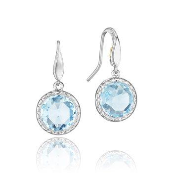Crescent Embrace Sky Blue Topaz Simply Gem Drop Earrings