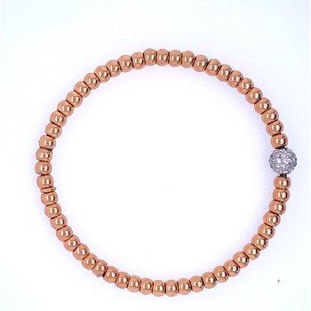 18k Rose Gold Bead Bracelet