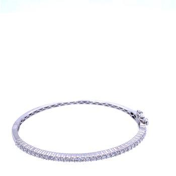 14KW 1.00ctw Diamond Bangle