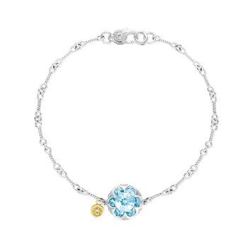 Sonoma Skies Sky Blue Topaz Crescent Gemstone Bracelet